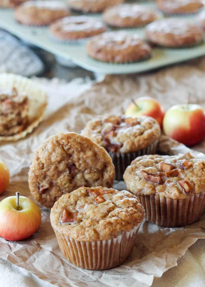 Apple Oatmeal Egg-Free Muffins