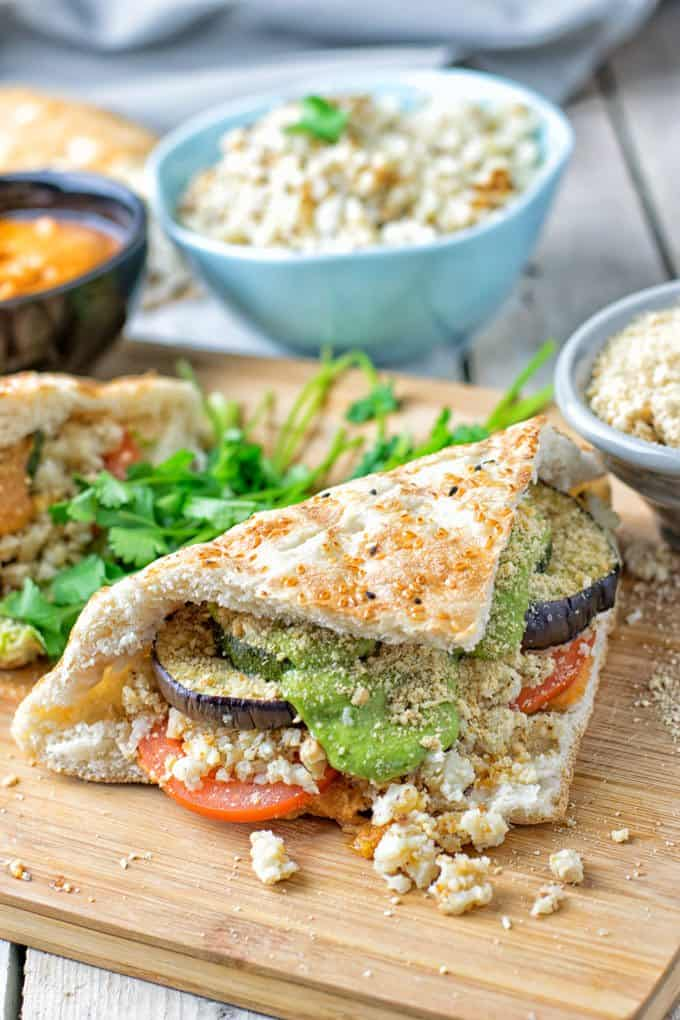 Cauliflower Rice Pesto Sandwich