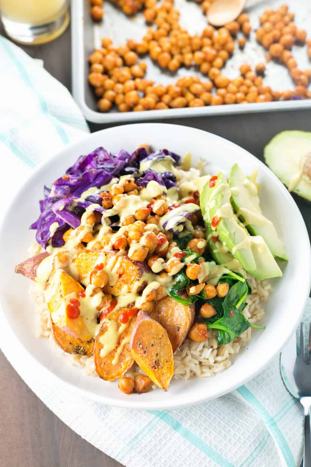 Spicy Sweet Potato Buddha bowl recipe