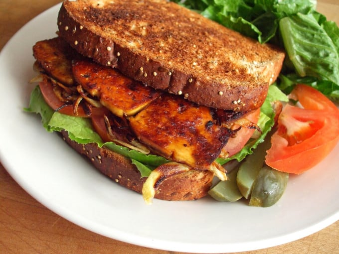Smoky Maple Tofu Sandwich