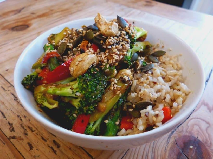 Miso stir-fry vegan