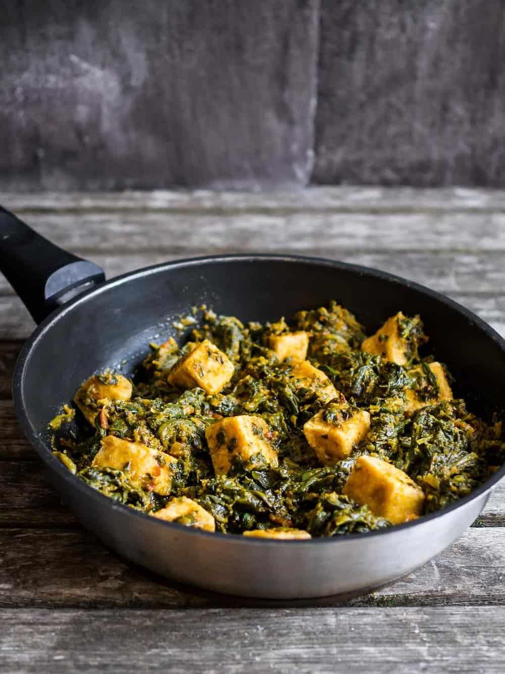 Saag tofu recipe