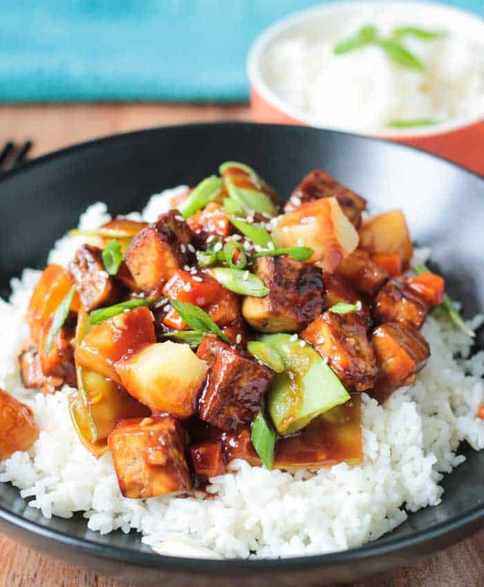 Pineapple and tofu stir-fry