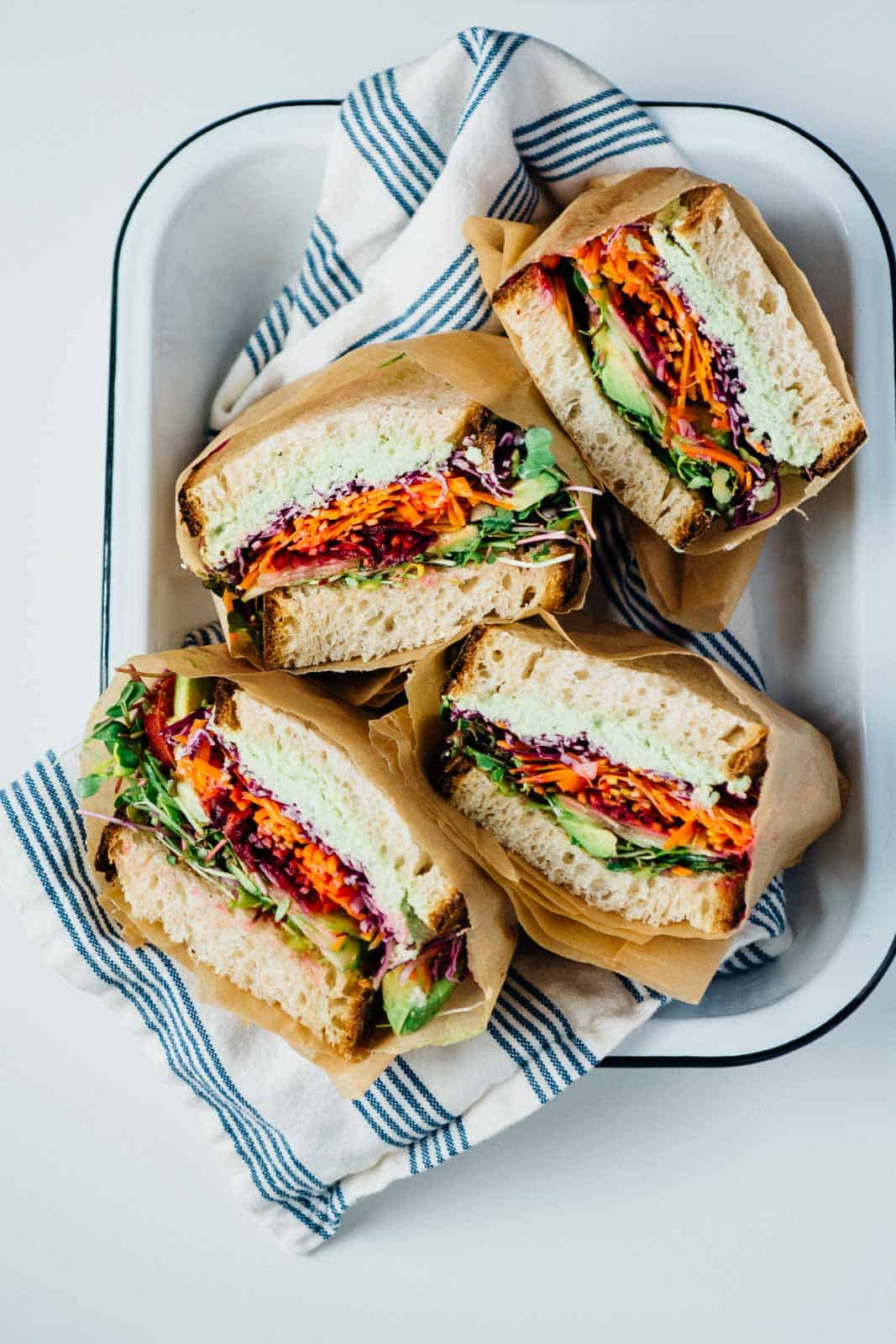 rainbow sarnies vegan