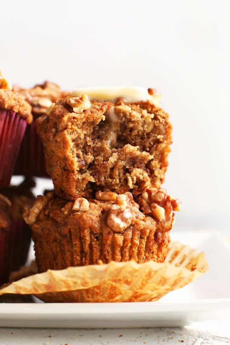 Banana nut dairy-free muffin recipe