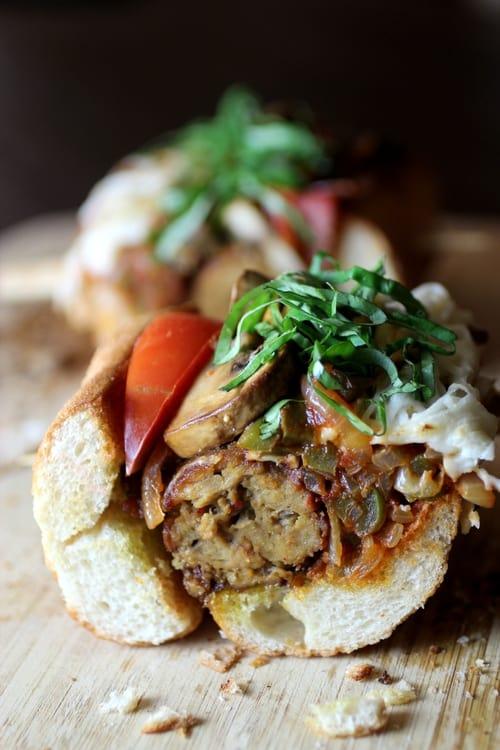 Vegan gutbuster sandwich