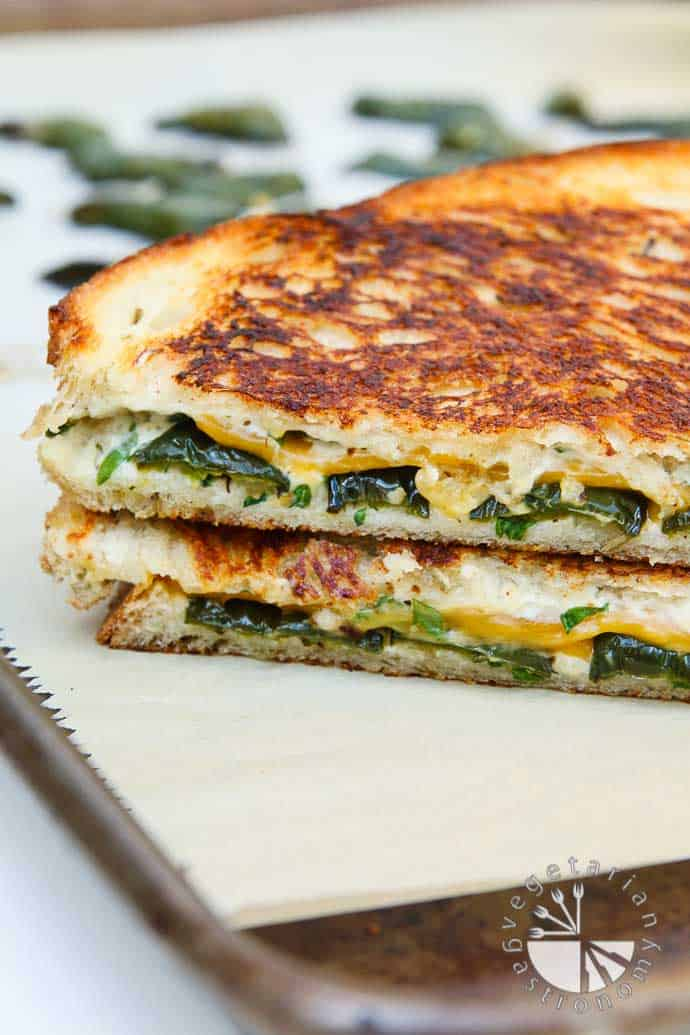 Dairy-free cheese and jalapeno sandwich