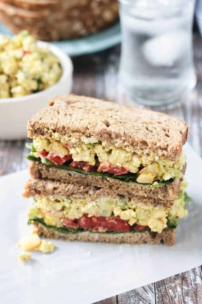 Curried tofu sandwich