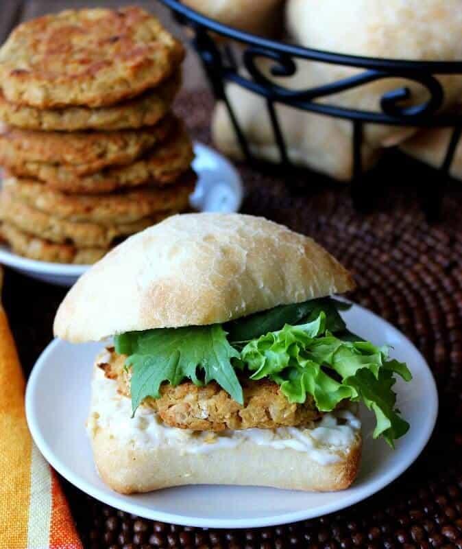 veg sandwich recipe - baked falafel