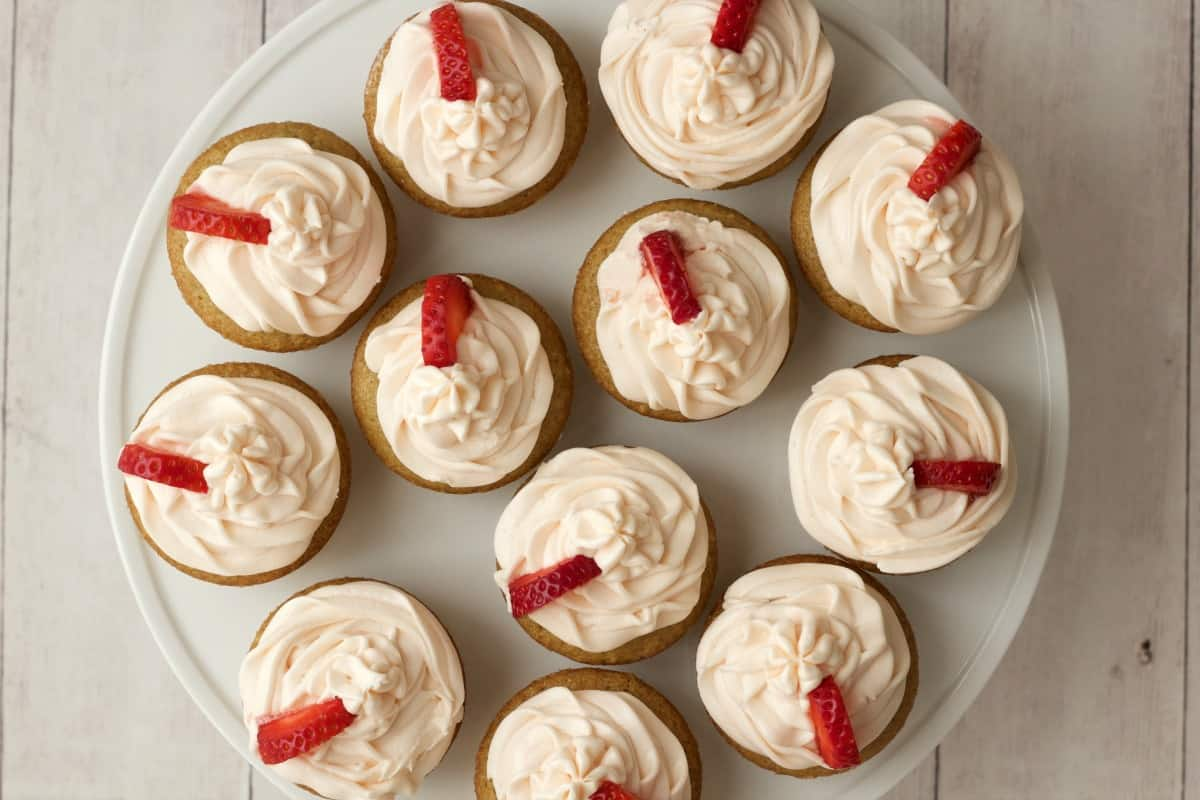 Strawberry vanilla dairy free cupcake recipe