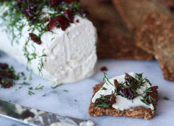 Cranberry dill dairy-free goats cheese