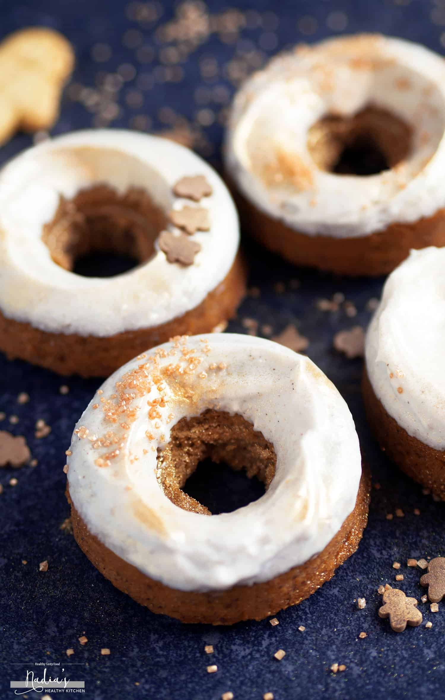 Vegan and Gluten-Free Gingerbread Doughnuts