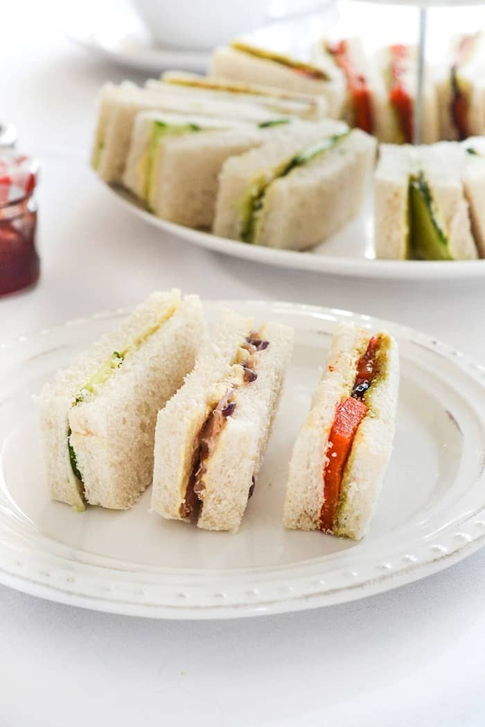 Vegan finger sandwiches for tea time