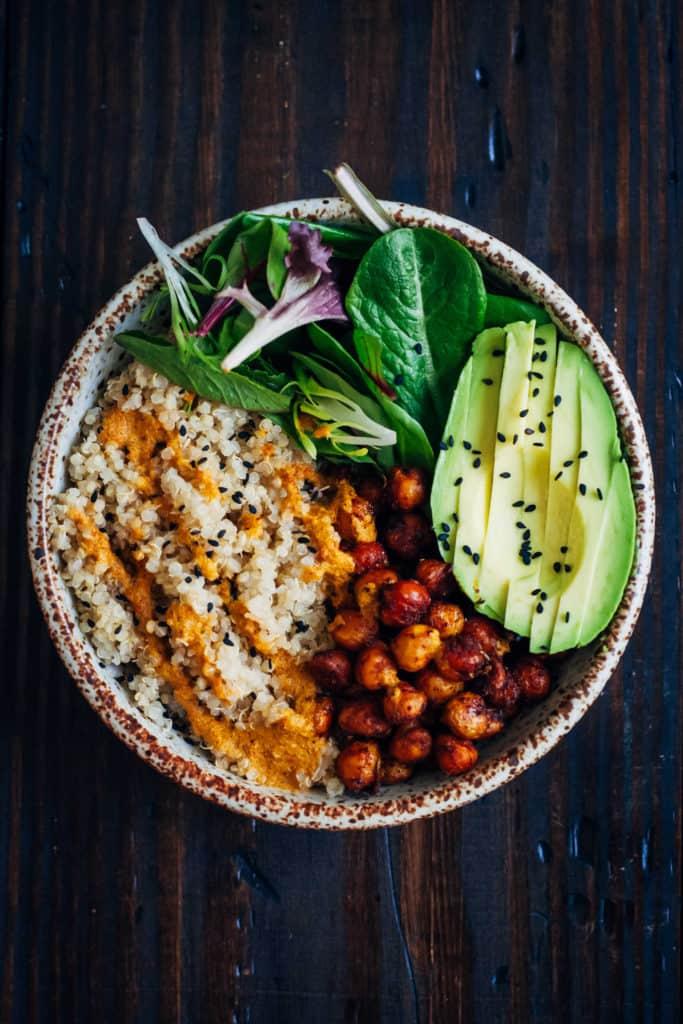 Quinoa vegan buddha bowl