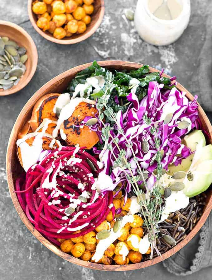 easy Buddha bowl vegan
