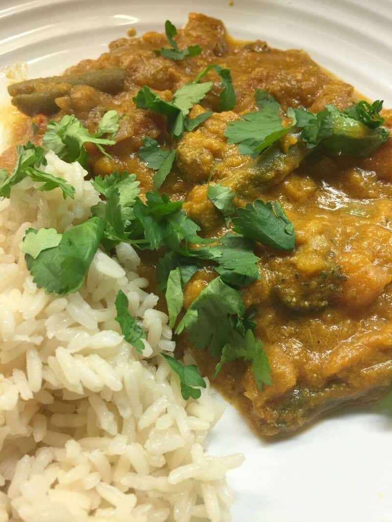 Slow Cooker Vegetable Curry