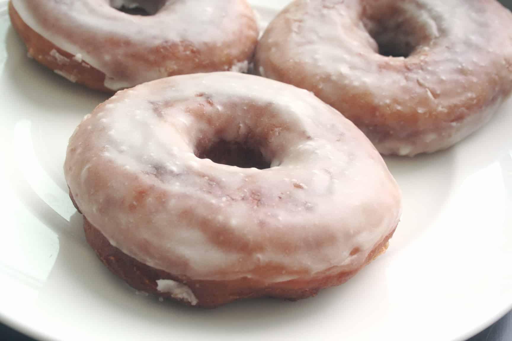 Classic glazed doughnuts vegan