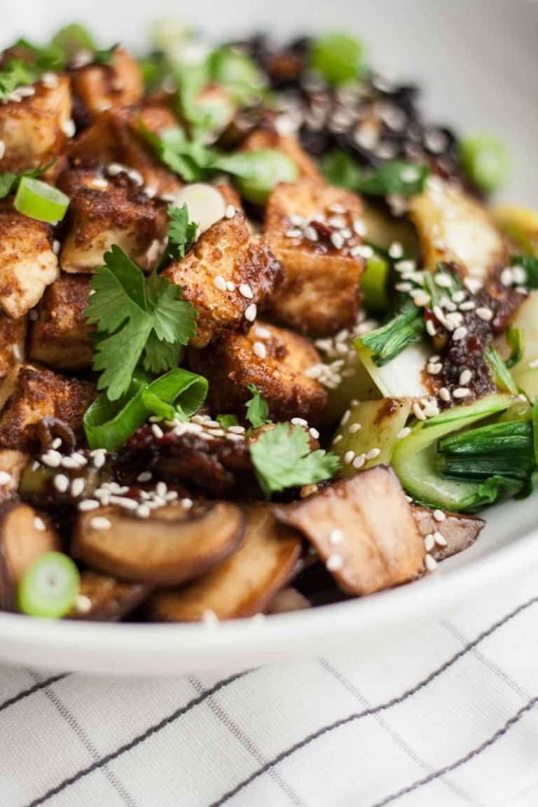 Crispy Tofu Black Rice Bowl