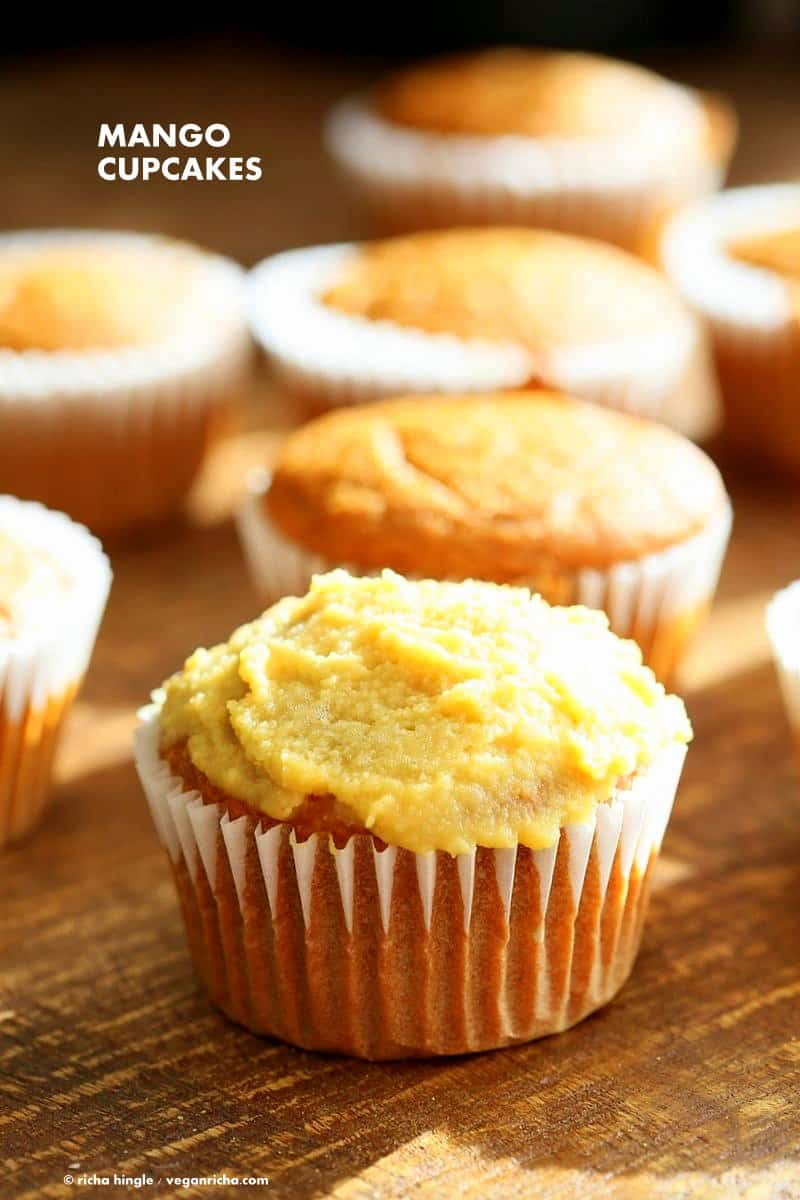 Egg-free cupcakes - mango flavor