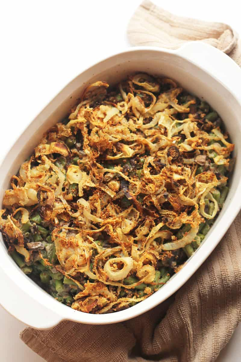 Healthy green bean casserole vegan