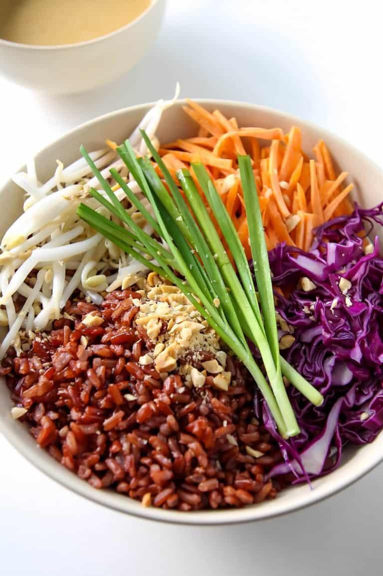 Healthy bowls for vegans