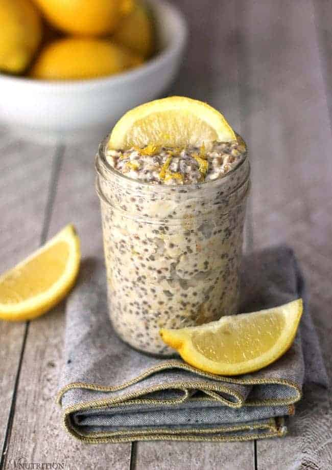 Lemon oats plant-based and dairy-free