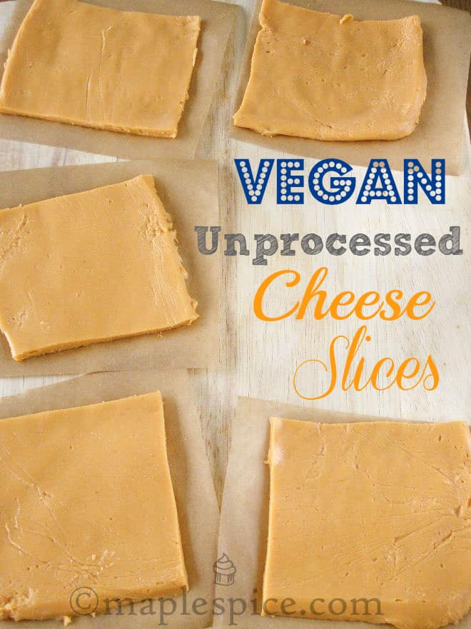 Unprocessed cheese slices