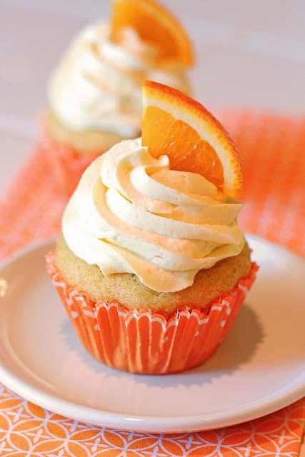 Non dairy cupcakes - Orange creamsicle