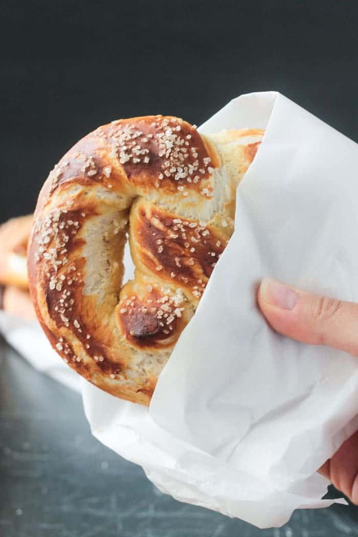Soft vegan pretzels