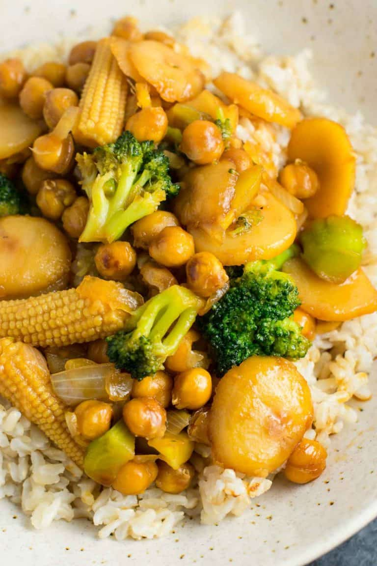 Plant-based stir-fry bowl