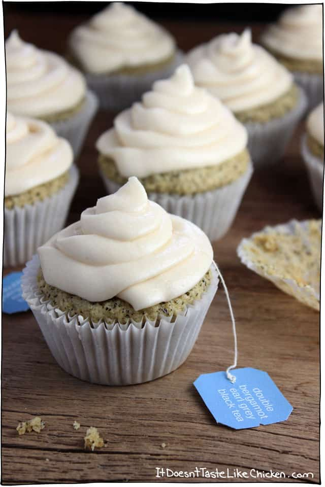 Earl Grey vegan cupcake recipe