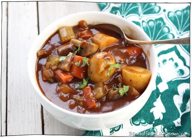 Vegan Irish stew for St Patrick's Day