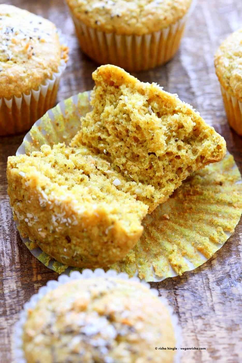 Lemon Coconut Chia Dairy-Free Muffins