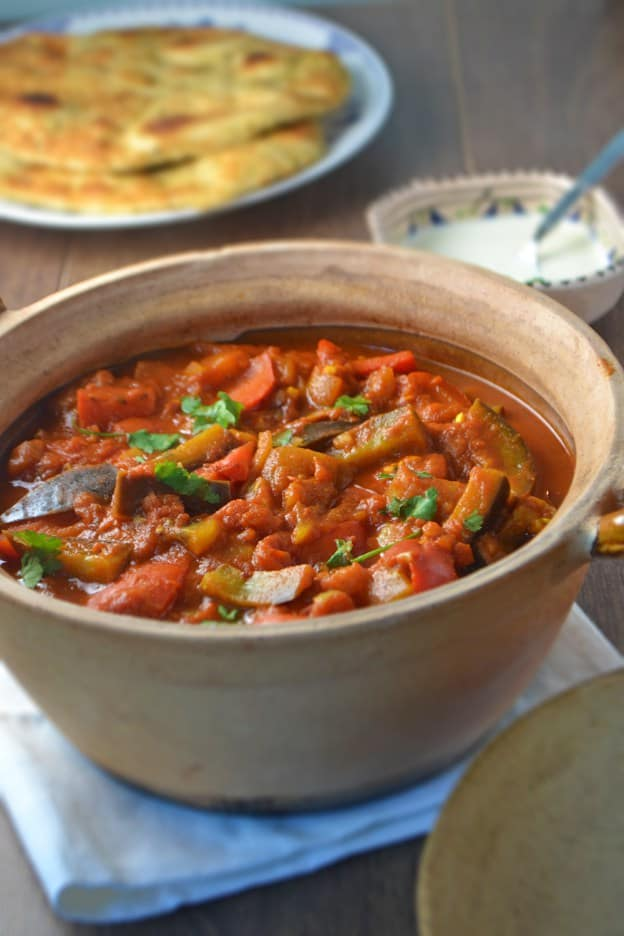 Plant-based aubergine curry