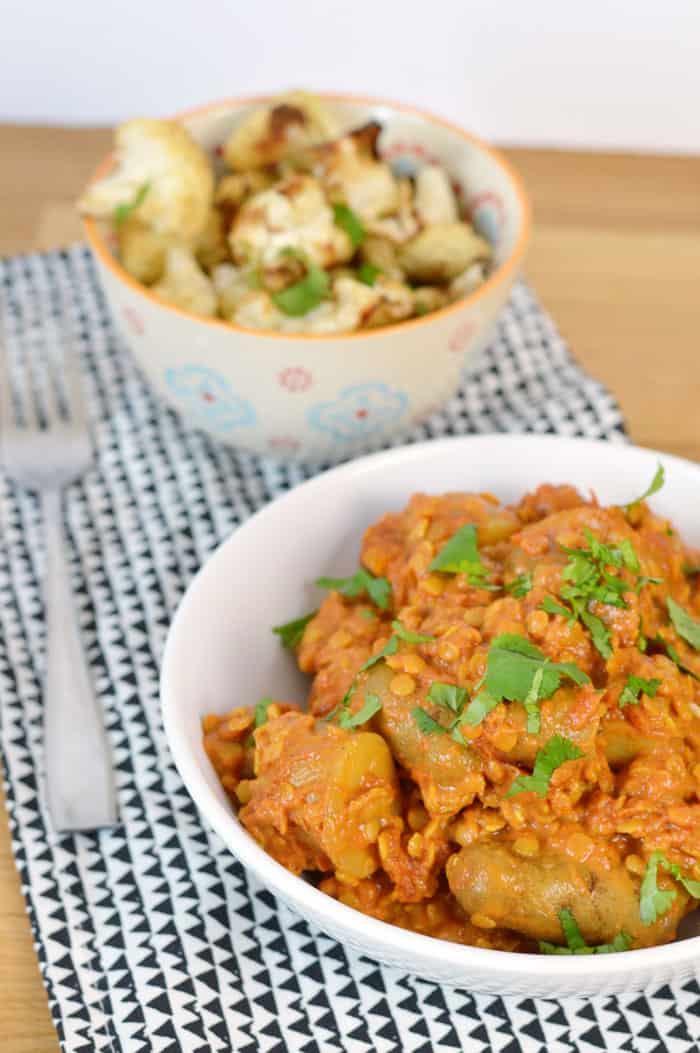 Potato and lentil curry recipe