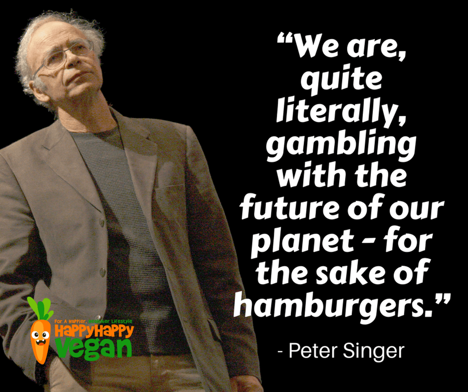 Environmental and vegan quote by Peter Singer