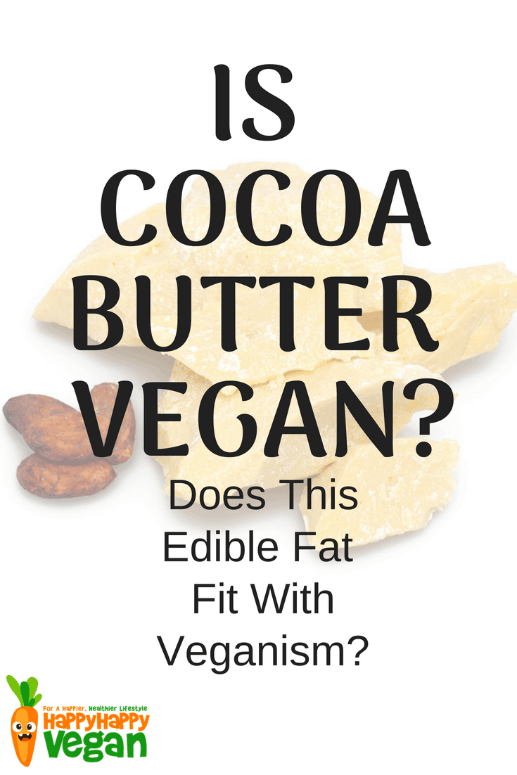 Image of cocoa butter and nibs with the question
