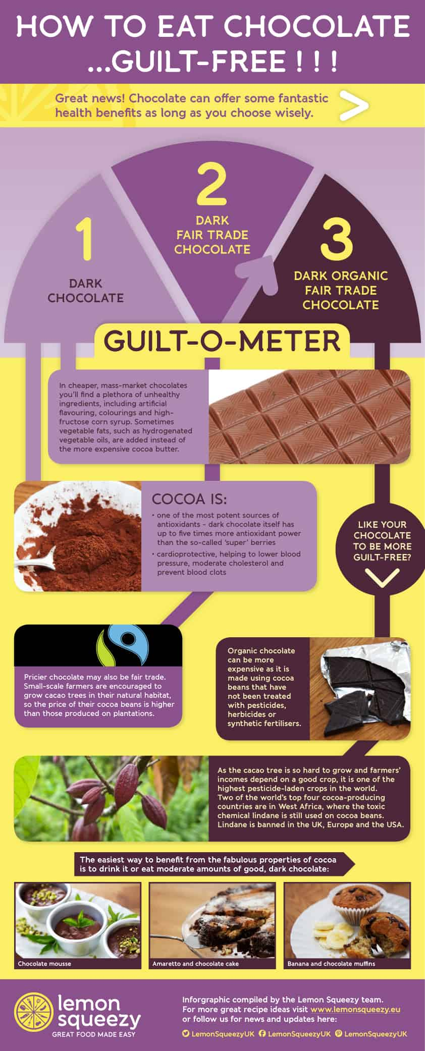 guilt-free chocolate infographic