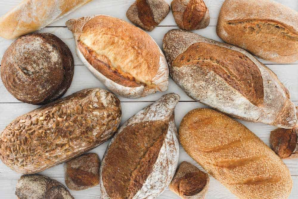 A wide selection of vegan breads
