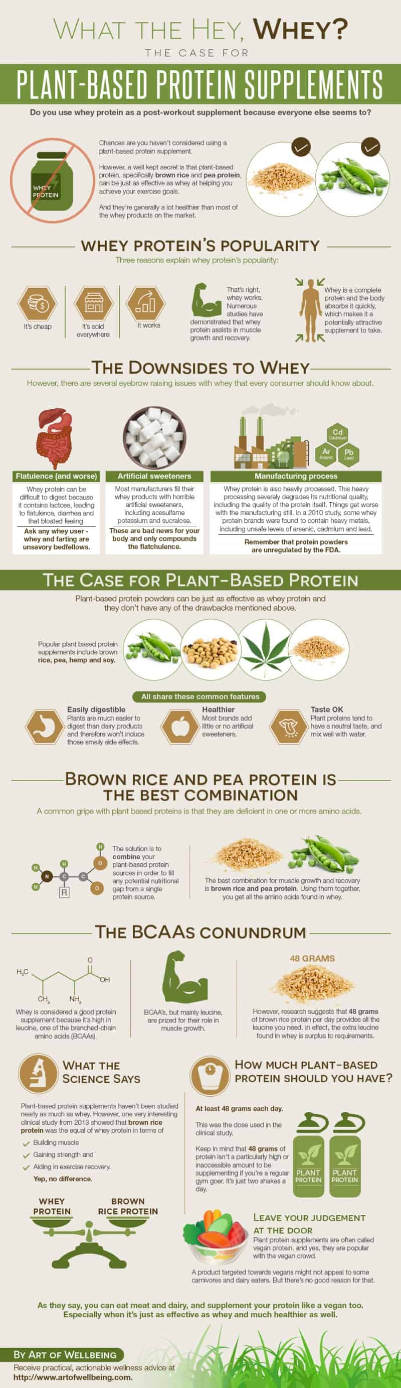 plant-based protein not whey infographic