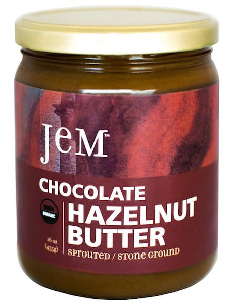 Jar of JEM chocolate hazelnut butter
