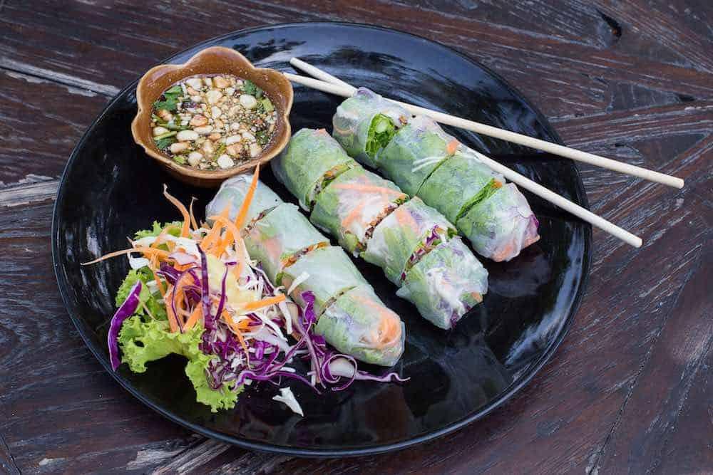 healthy vegan spring rolls