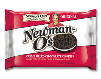 packet of newman o's vegan oreo alternative
