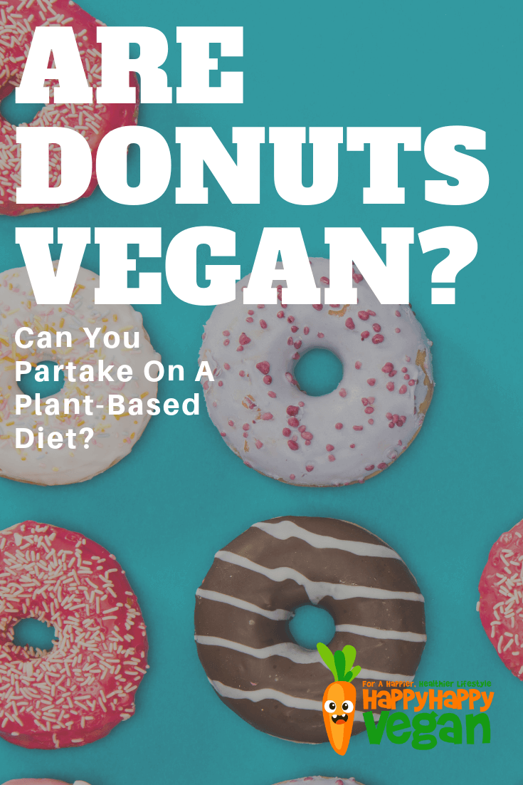 "Pinterest image for the post ""can vegans eat donuts?"""