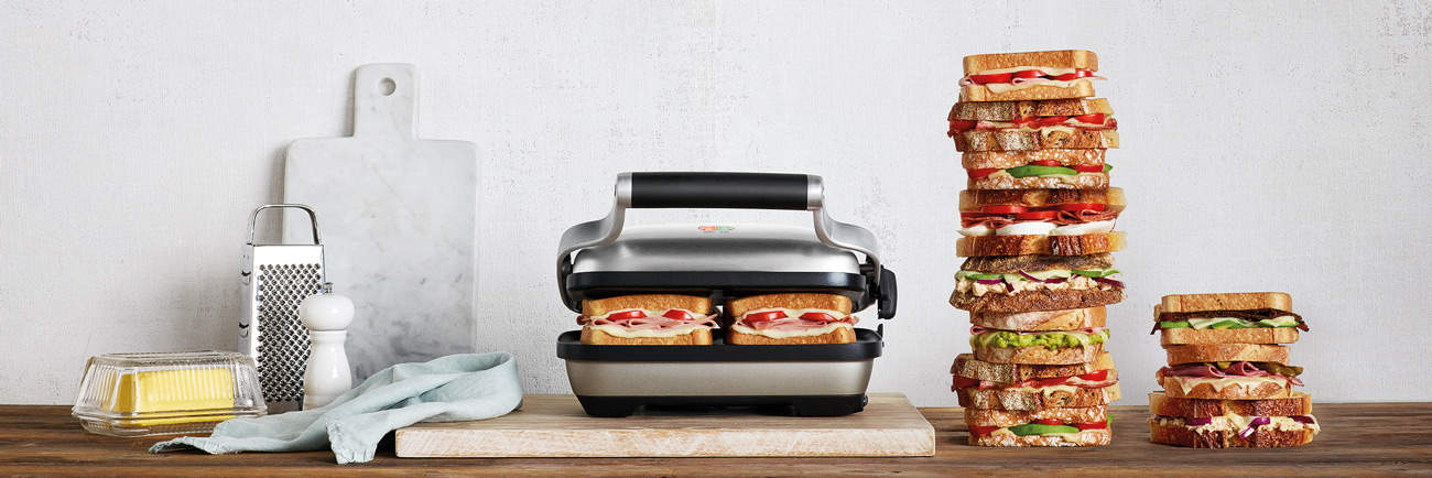 image of the best panini press - breville bsg600bss