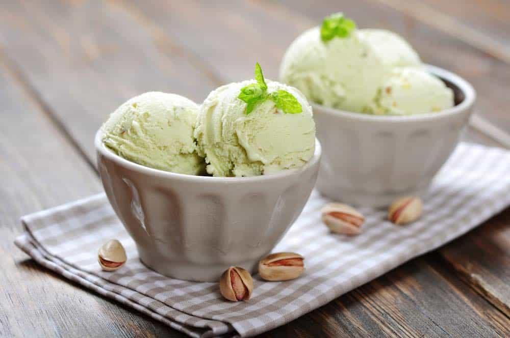 vegan pistachio dessert made in the best home ice cream machine