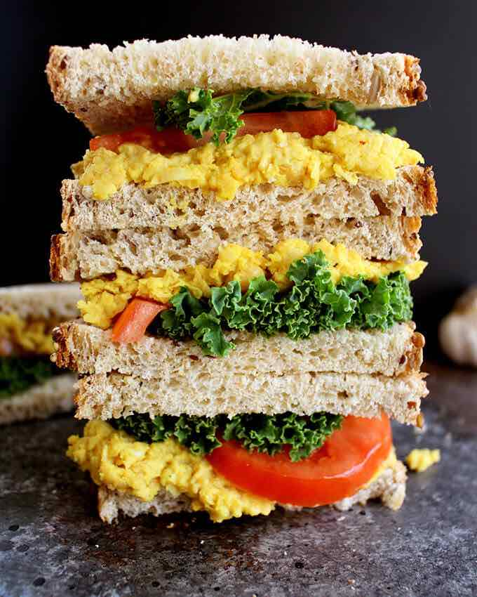 turmeric and chickpea sandwich