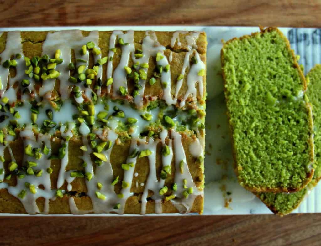 spinach pistachio cake
