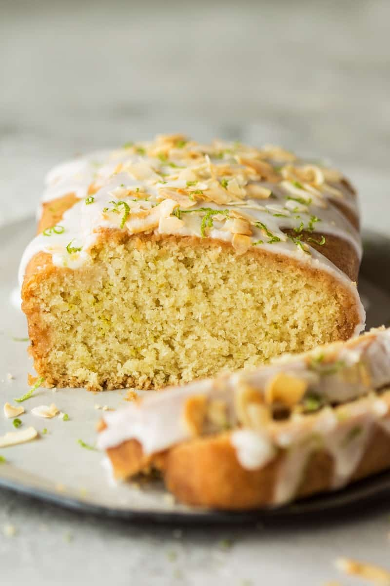 delicious lime and coconut drizzle cake