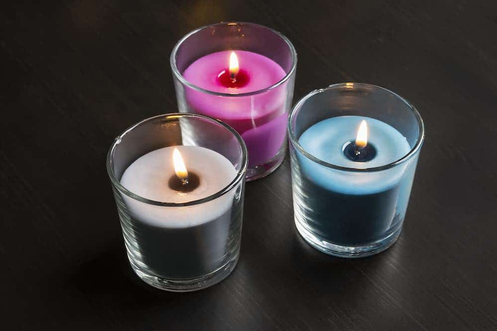 three soy candles made with the best home candle making kit
